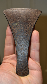 "A large, stunning and Extremely Rare Early Bronze age, decorated bronze ""Migdale"" flat axe from Norfolk. SOLD"
